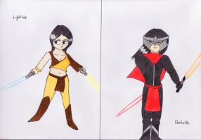 Natalie-The Jedi and the Sith by lordtrigonstar