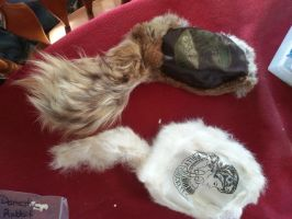 Davy and Polly Crockett Vintage Fur Hats by Minotaur-Queen