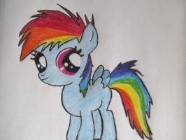 Filly Rainbow Dash. by RussianSombrero