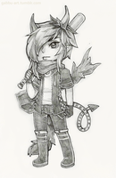 Chibi Sketch Commission:  Zackarie by Gaz-Monster