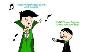 I wear your granddad's clothes ... by KiokoYamamoto
