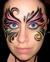 Eyes of a tribal rainbow by thepinupgirl