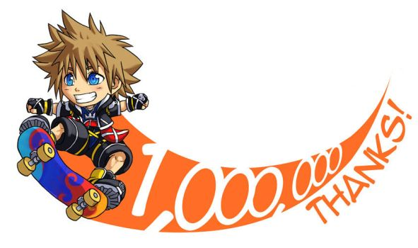 KH2: Thanks for 1,000,000 hits by Risachantag