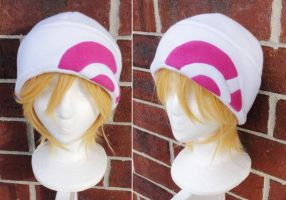 Pokemon X and Y Trainer Hat - White and Pink by akiseo