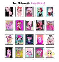 My Top 20 Favorite Rose-Haired Characters by SithVampireMaster27