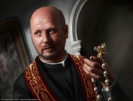 Cthulhu - Priest of two faiths by henning