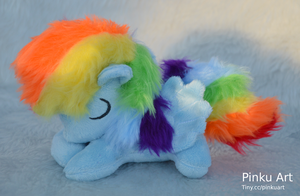 Sleepy Rainbow Dash filly plush by PinkuArt