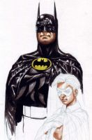 Batman en Robin Watercolor WIP by edtadeo