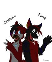 Chakura and fang (finished) by Lonewolf23pro