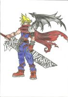 Cloud Kingdom hearts version by Draculsondevil