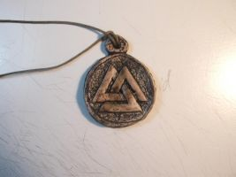 Valknut Necklace by LusitanianDavid