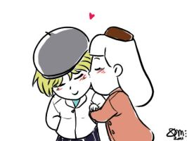 Faberry Chibi Cheek's Kiss by patronustrip