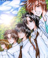 MidGakuen Boys-PencilColor by raijin-no-tori