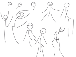 Vilppu Stickfigures Drawings by gtstyling32