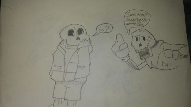 Sans and papyrus by animedrawer123455