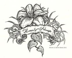Lily Tattoo Design by nighte-studios