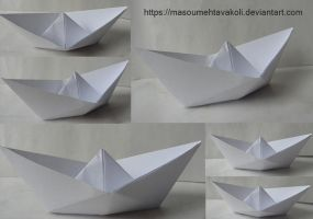 Paper Boat Stock Pack by MasoumehTavakoli-Art