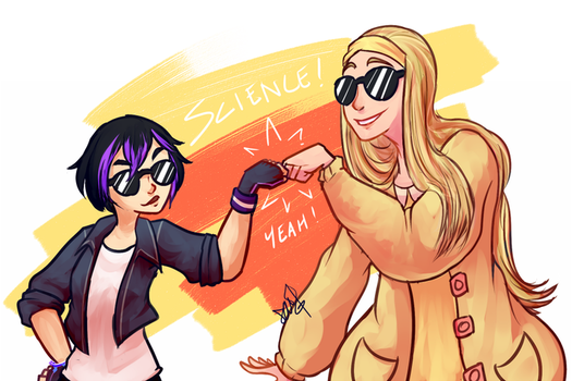 Gogo + Honey Lemon by Pidoodle