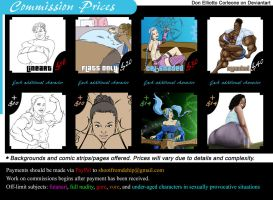 Commission Price List by DonElliottoCorleone
