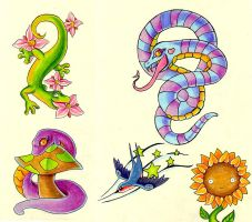 Snakes and Friends by frowzivitch