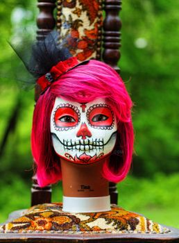 Red Sugar Skull by mgcogan