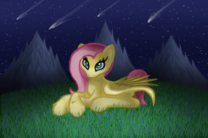 Fluttershy Nightscape by Multiponi