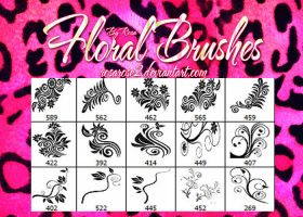 Floral Brushes by RosaRose2