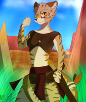 [Gift] Jazmin the Warrior by DragonSword03