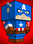 Captain America Cubee -remake- by Pankismo