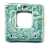 3 Hole Window Ceramic Pendant by ChinookDesigns