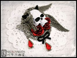 Blood of a Demon Brooch by Necrosarium