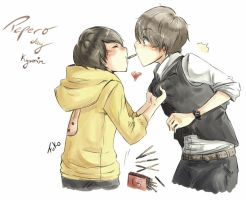 Kyumin: pepero day by Fuko-chan