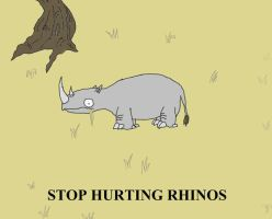 STOP HURTING RHINOS by Freakingseahorse