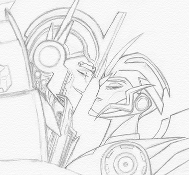 Optimus and Arcee by TouchofMink2