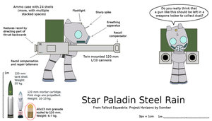 Steel Rain and his 120 mm cannons v2.1 by tbaransk