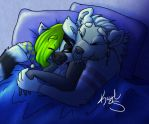 Early Morning Snuggle by Kaydolf