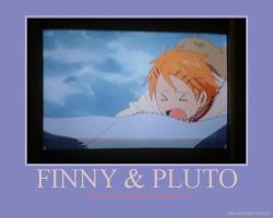Finny x Pluto Poster One by AnnieSmith
