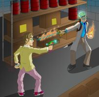 Warehouse Fight by Thagirion