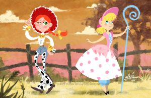 Toy Story: Prairie Girls by YoukaiYume