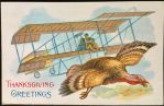 Early Aircraft Thanksgiving Card by Yesterdays-Paper