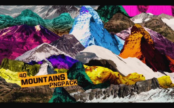 Mountains Pngpack #40 by Lilith-Trash