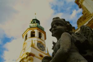 Angel and Church by friedapi