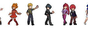 Ansho Gym Leader Sprites by Casey333