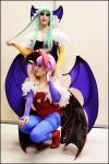 Cosplay Lilith et Morrigan 2 by Alyciane