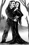 CC: Gomez and Morticia Addams by MistyTang