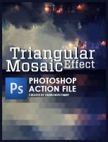 Triangular Mosaic Effect - PHOTOSHOP ACTION by FashionVictim89