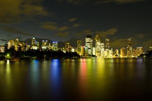 Brisbane by night by gidl