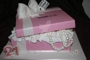 Baby pink gift box by mudpiecakes