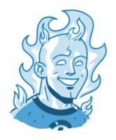 Human Torch Sketch by MattKaufenberg