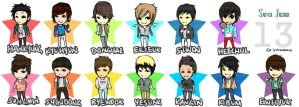 super junior chibis by applesareblue